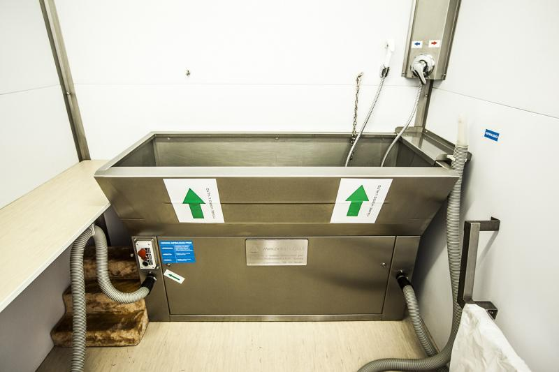 La vasca di lavaggio del box self-service - Wellness Dog