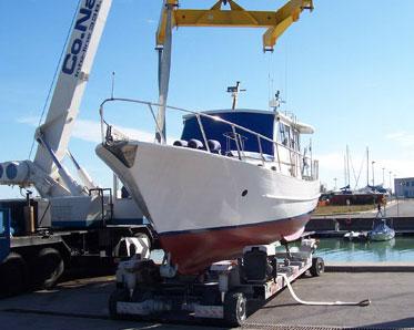 Alaggio e sosta imbarcazioni - Nautica Ceccherini